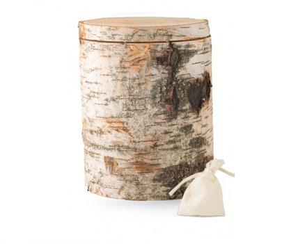 Holzurne aus massivem Birkenholz