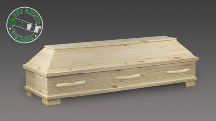 Sarg aus unbehandeltem und nachhaltigem Pappelholz