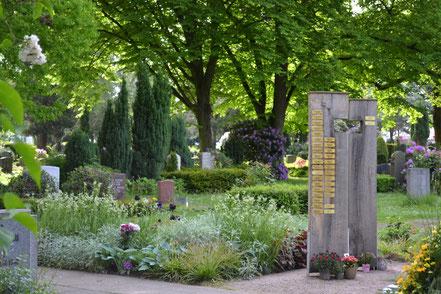 Eingang der Kapelle vom Friedhof Tonndorf in Hamburg