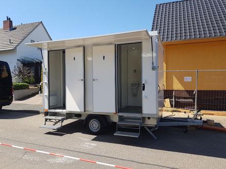 Toilettenwagen günstig mieten in Bonn/Köln/Bornheim