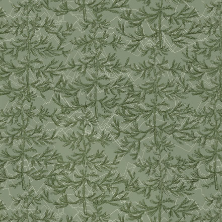 exclusive wallpaper, designer wallpaper, mademoiselle camille, print and patterns, textile design, forest, in the woods