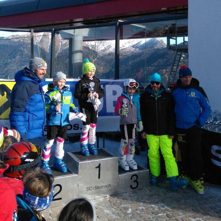 Gratulation. Magdalena Eberharter 3. Platz beim Slalom in Steinach auf der sehr schwierigen supereisigen Piste! Gratualtion auch an Pfister Alfons zu Platz 10 (unter 30 Schülern - eine sehr gute Fahrt!!) und Eberharter Christoph zu Platz 9