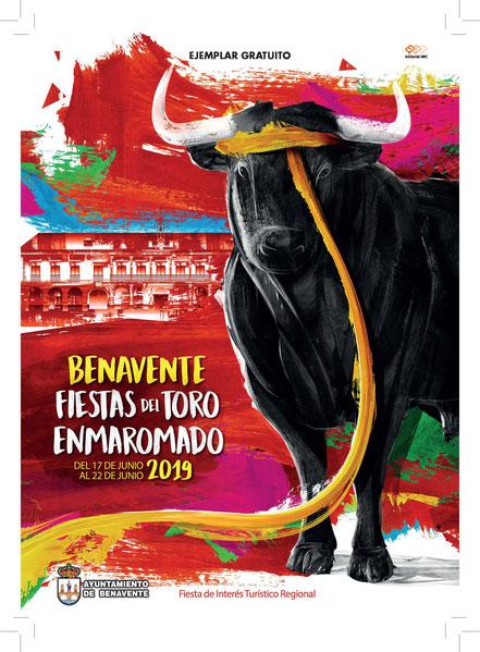 Fiestas del Toro Enmaromado en Benavente: cartel y programa