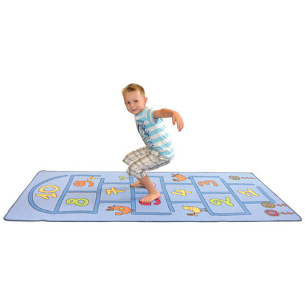 Tapi de jeux la marelle, idéal pour les jeux d'enfants.