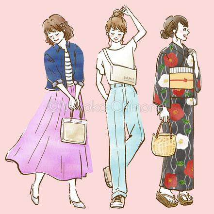ファッションコーデイラスト