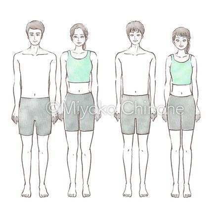 男性女性 成人 健康 イラスト