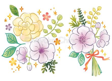 花・飾りのイラスト