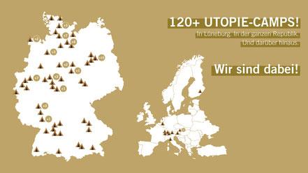 Landkarte Utopie-Camps