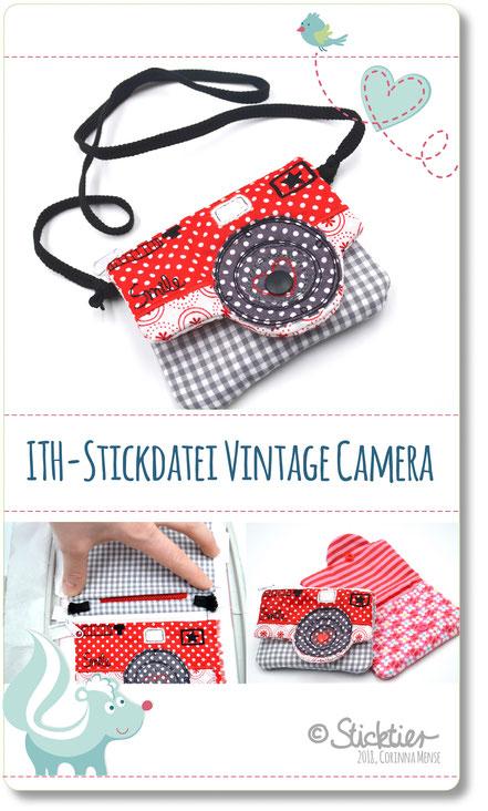 Stickdatei von Sticktier Kamera Tasche
