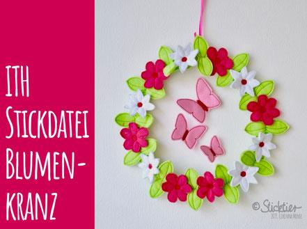 Ith Blumen Stickdatei , Sticktier, Corinna Mense, 10x10 Rahmen