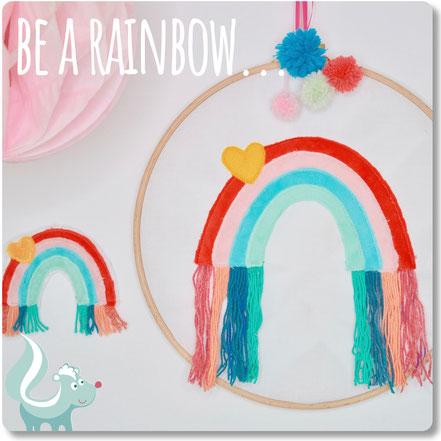 Stickdatei Regenbogen für die Stickmaschine