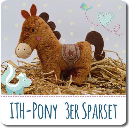 Spar Set Stickdatei, Stickdatei Angebot, Pony Stickdatei