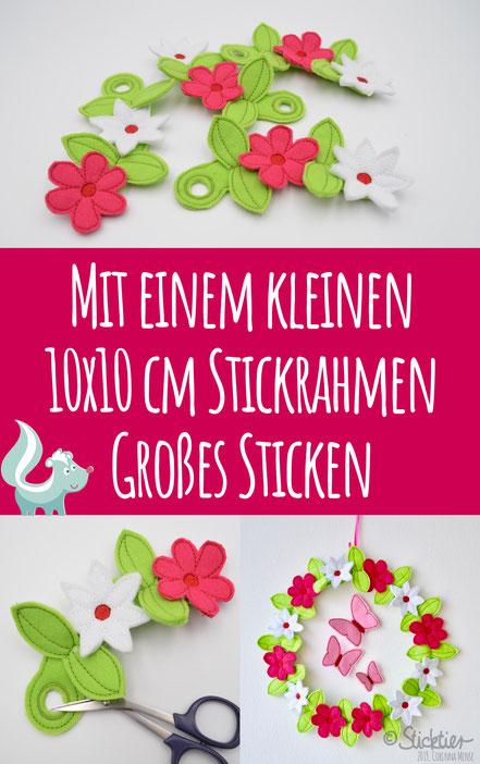 ITH Stickdatei, Stickdatei Blumen, Stickdatei Ostern, ITH Sommer Stickdatei, Sticktier, Corinna Mense