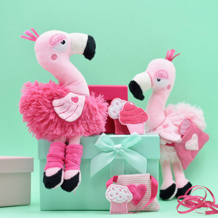 Flamingo Stickdatei, Kuscheltier Flamingo