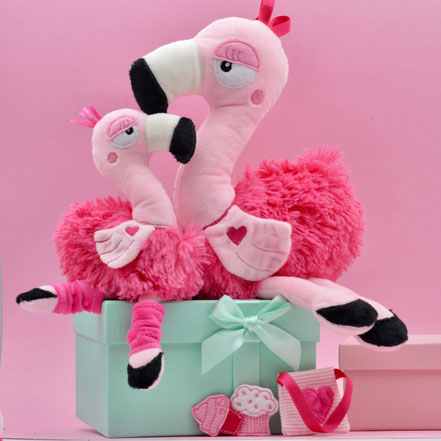 ITH Stickdatei Flamingo, Flamingo gestickt.