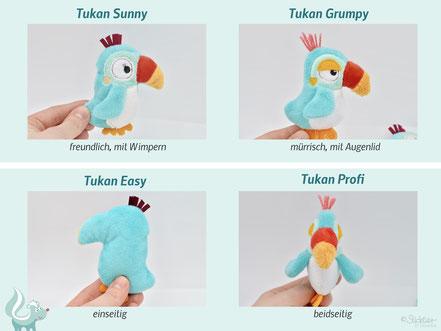 Stickdatei Tukan, ITH Stickdatei Vogel für die Stickmaschine von Sticktier