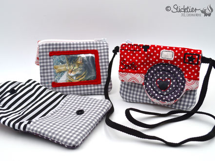 Stickdatei Kamera als Tasche für die Stickmaschine von Sticktier