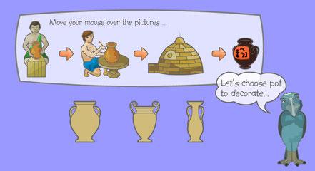 Bemale und brenne eine griechische Amphore