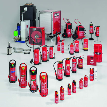 Feuerlöscher Wartung Gloria Produktübersicht