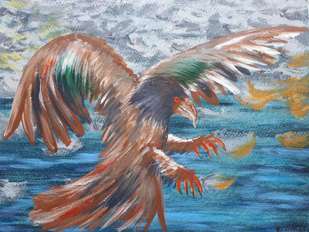 Freiheit, Vogel, Acrylfarbe, Christian Niklis