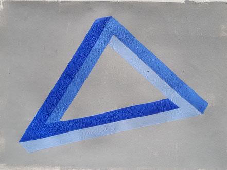 Penrose, Dreieck, Linolschnitt, Linoldruck, Christian Niklis