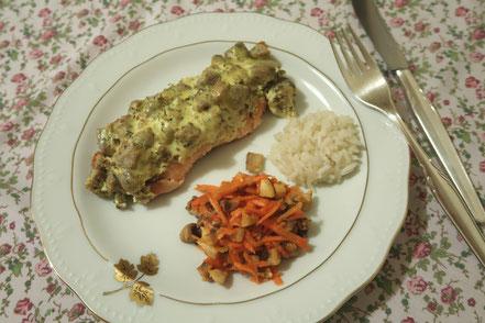 Karfreitags-Rezept: Überbackener Lachs mit Frischkäsehaube