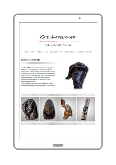 Website, Freie Objektkunst, Objektseite: Bronze-Plastiken von Kaete Huppenbauer aus Schönwalde am Bungsberg