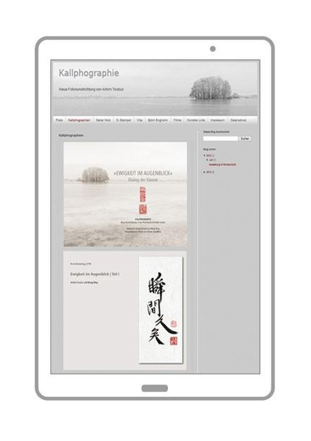 Website, Blog Kallphographie Ewigkeit im Augenblick