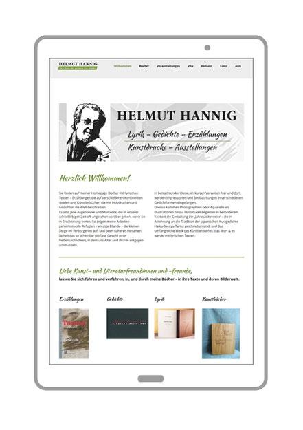Startseite von Autor Helmut Hannig aus Bühl-Weitenung, Buecher: Lyrik, Gedichte, Erzaehlungen undKunstdrucke