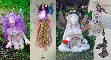 Figuras de Hadas, Joyería hadas, cokgantes de hadas, Hadas luminosas para colgar, Escultura Hada, Tienda de figuras de hadas