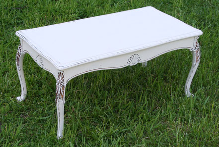 Small white carved table