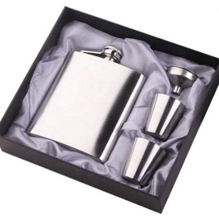 Flachmann 8 oz Silber