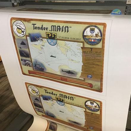 Seekarte Digitaldruck