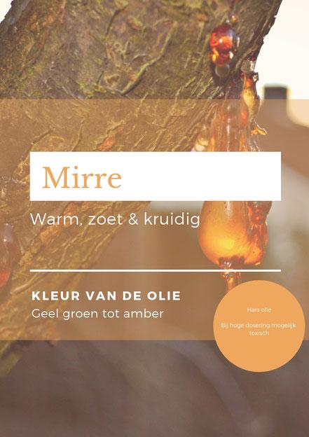 Mirre olie. Afbeelding uit het mini e-book spirituele aromatherapie voor het vergeten kind.