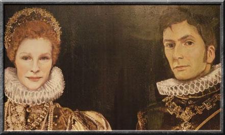 Ein Gemälde von Königin Elisabeth I und ihrem Ehemann