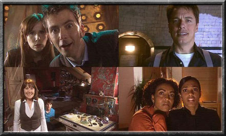 Die Konferenzschaltung mit Sarah Jane, dem Doctor, Torchwood und Martha