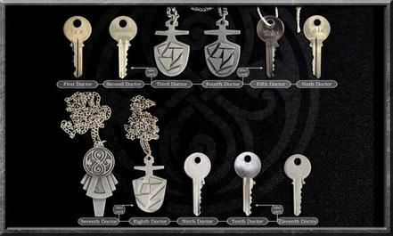 Die TARDIS Schlüssel vom ersten bis zum elften Doctor