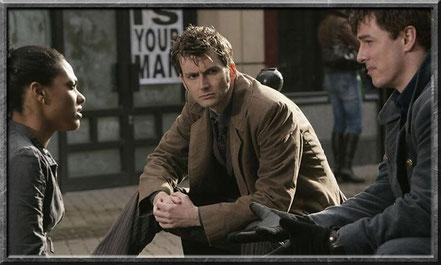 Jack mit Martha und dem zehnten Doctor