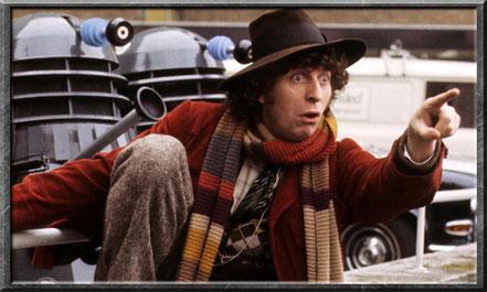 Der vierte Doctor mit seinem überlangen Schal
