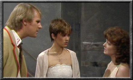 Der fünfte Doctor, Tegan und Nyssa