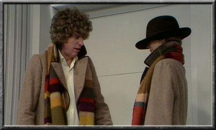 Der vierte Doctor mit Romana als Doppelgängering