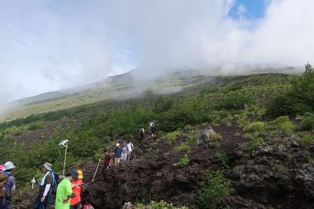 Die Besteigung des Fuji ist freiwillig