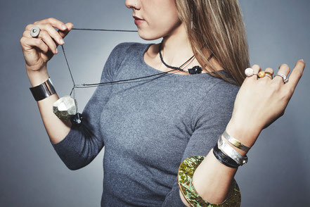 rings, necklaces and bracelets by the artists of Atelier STOSSIMHIMMEL
