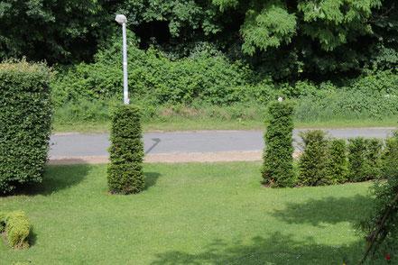 Offener Garteneingang