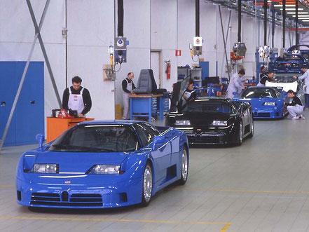 Usine Bugatti Campogalliano, ligne de montage