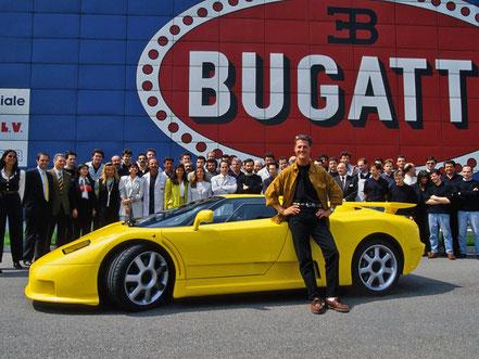 Michael Schumacher et sa Bugatti EB 110