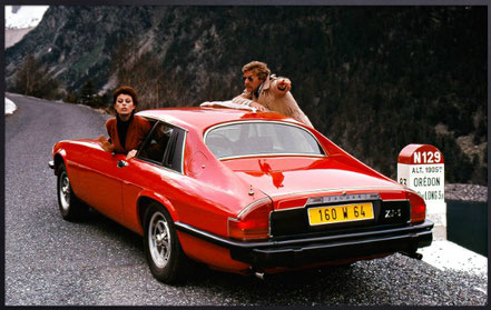 Jaguar XJ-S rouge, 1975