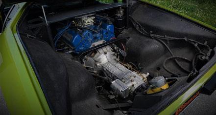 V8 351 Ci. central arrière et boite ZF transaxle