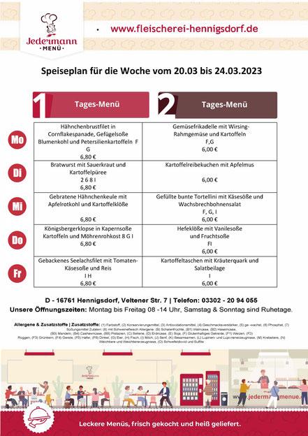 Täglich mehrere frische Gerichte, zum Mittagstisch sowie ein reichhaltiges Imbissangebot und Salate.