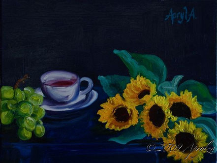 Still life with Teacup, 35/27 oil on canvas